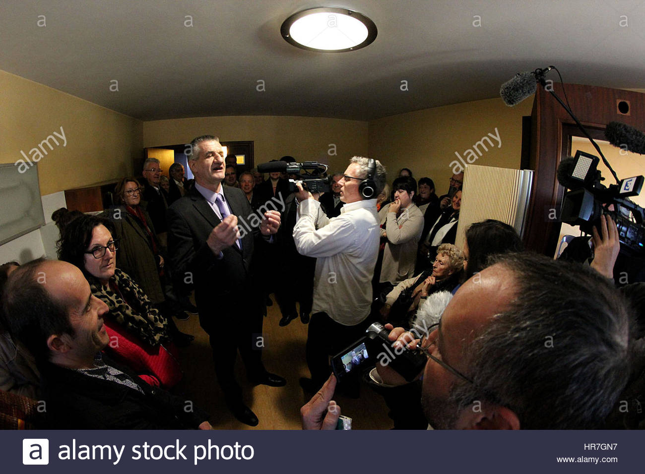 Mr. Jean LASSALLE, deputy the Pyrenees Atlantic and Mayor of Lourdios Ichere, candidate for the 2017 french presidential - Stock Image