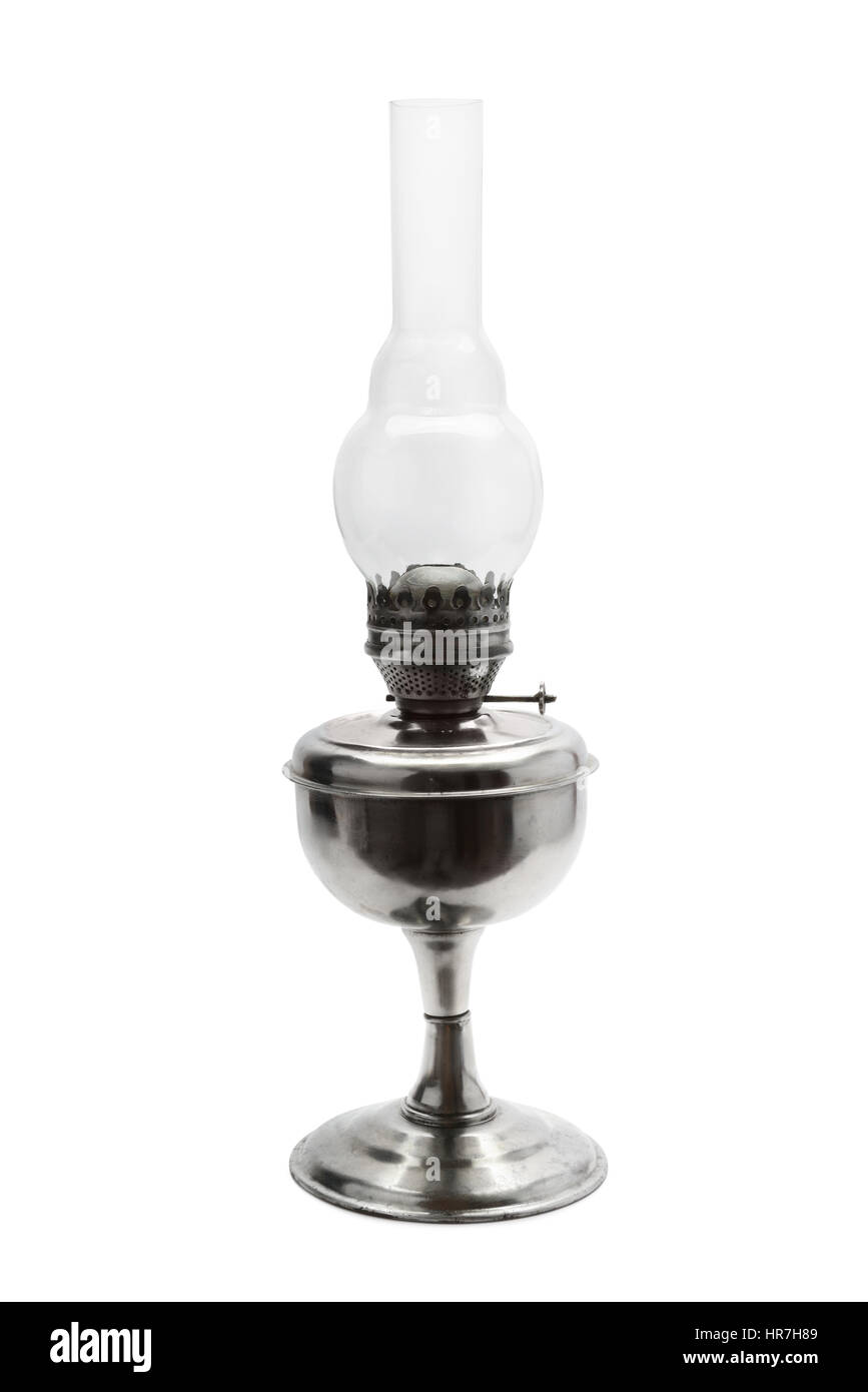 kerosene lamp isolated on white background Stock Photo