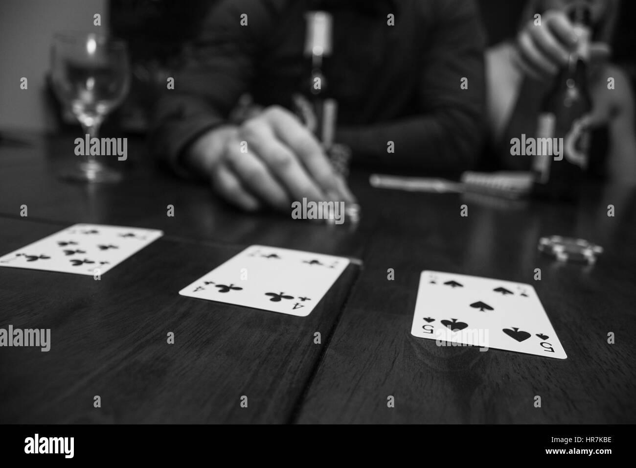 man playing card - Stock Image