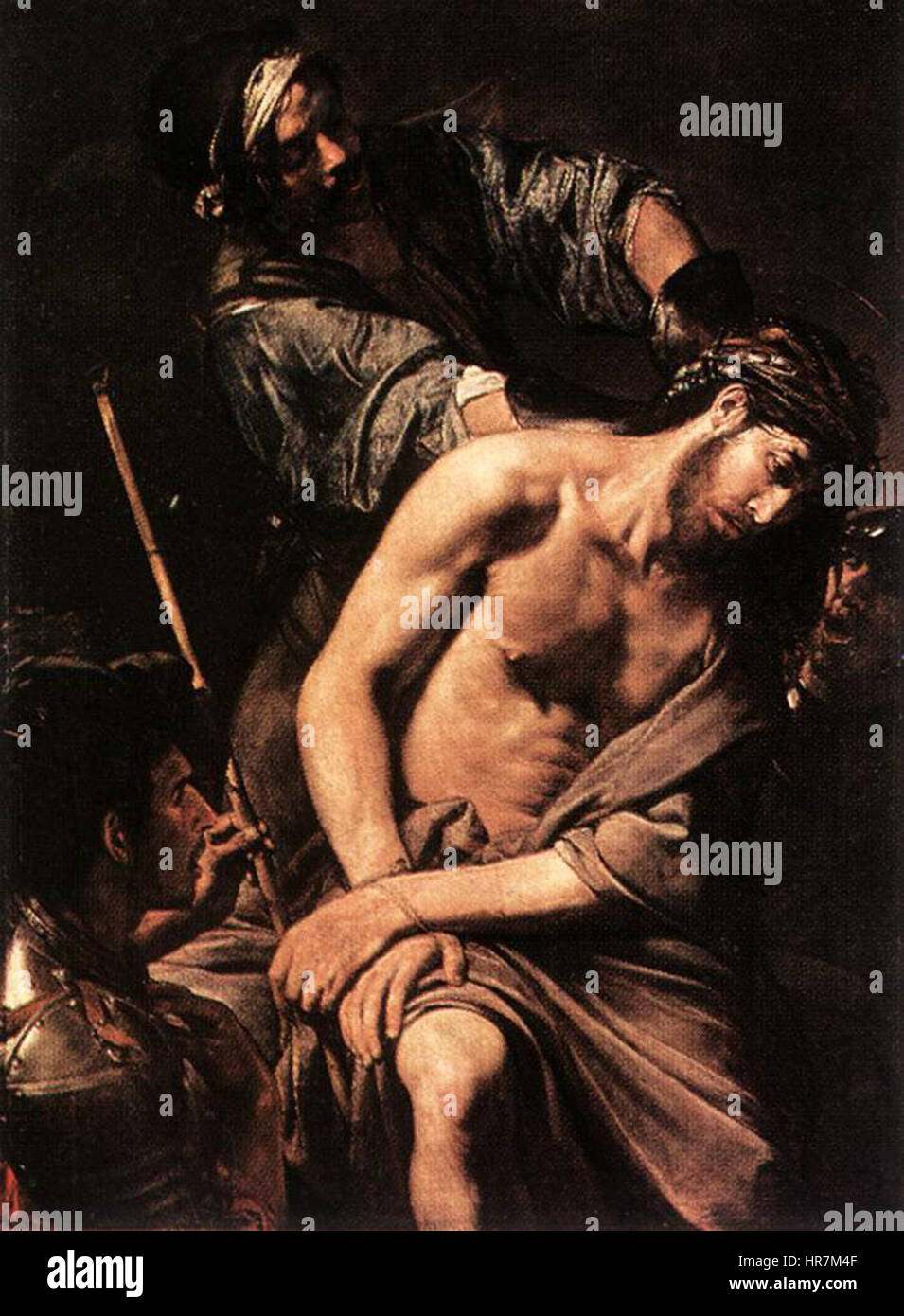 Valentin de Boulogne, Crowning with Thorns - Stock Image