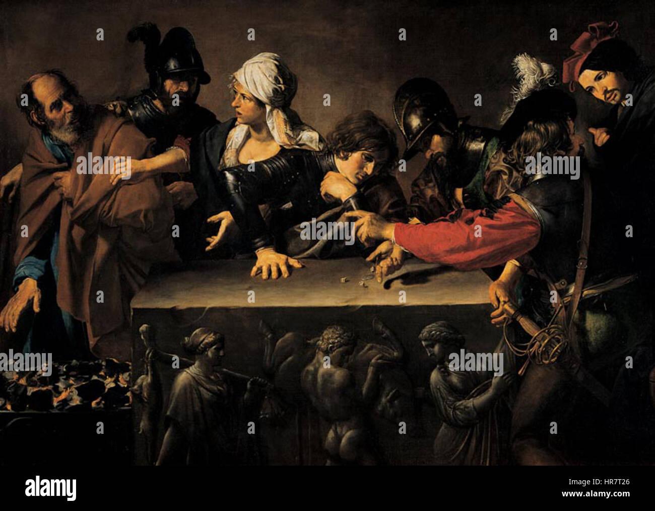 Valentin de Boulogne, Negazione di Pietro - Stock Image