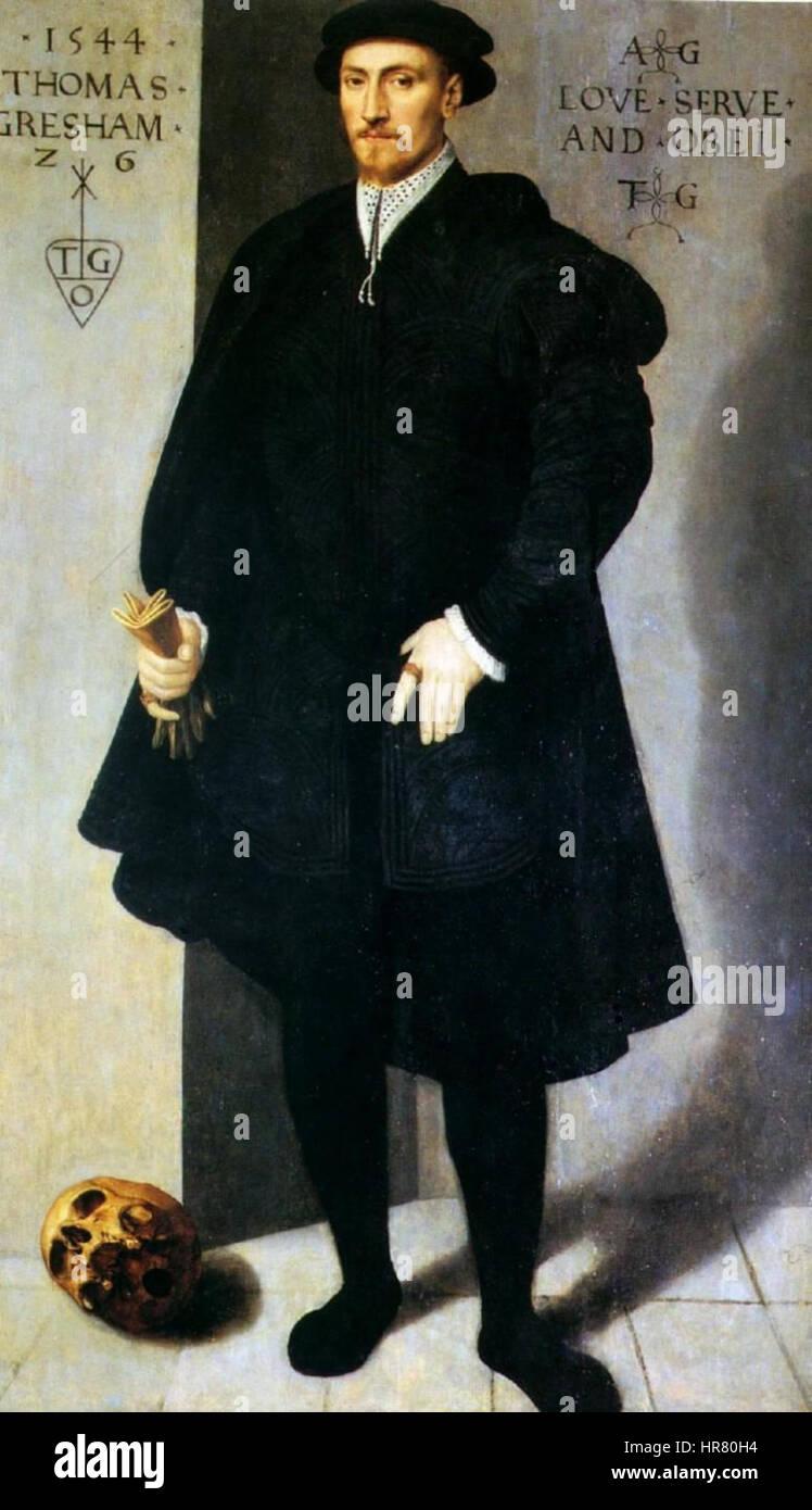 Thomas Gresham, 1544 - Stock Image