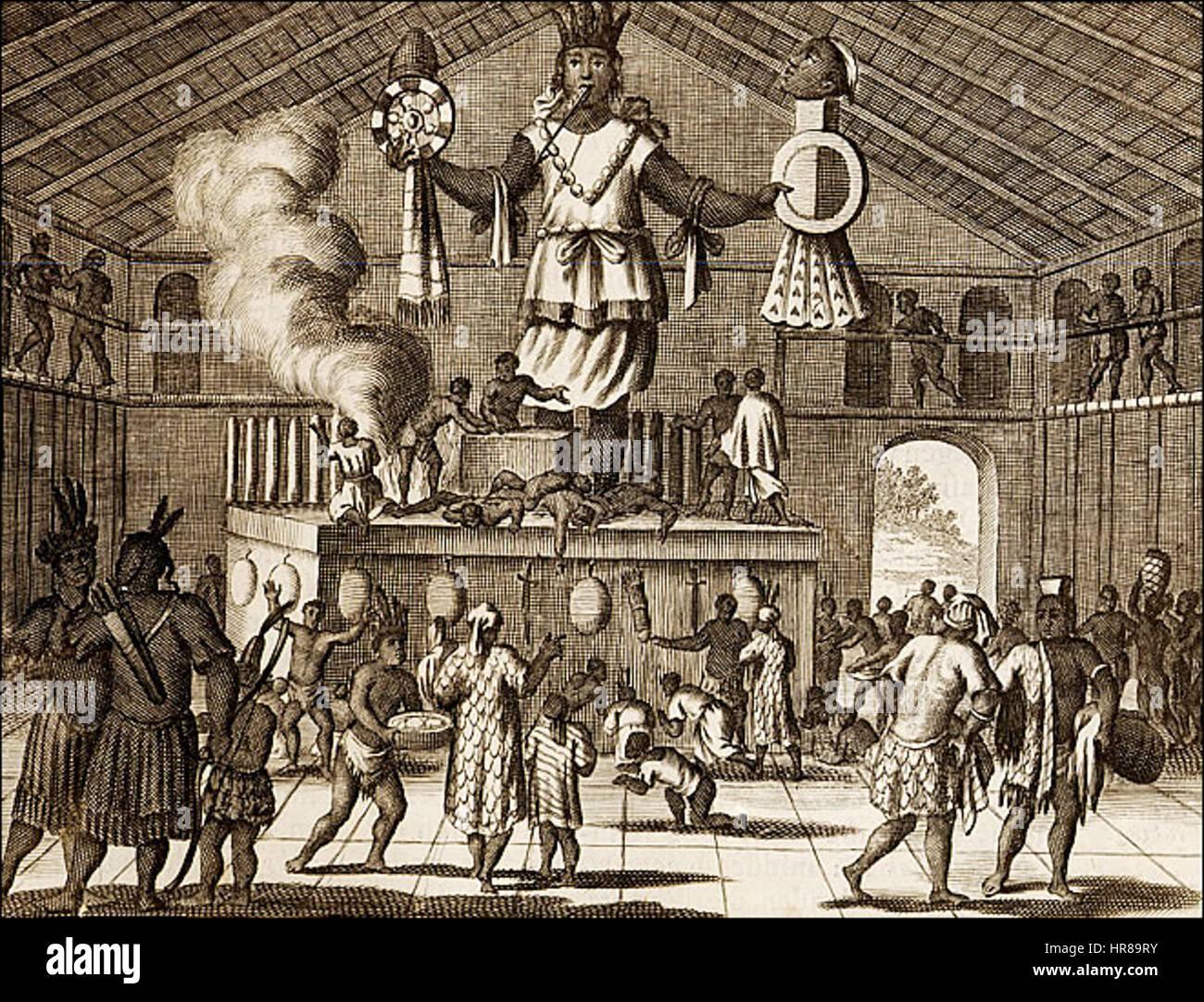 Virginia Indians Fanciful Figures Arnoldus Montanus America 1671