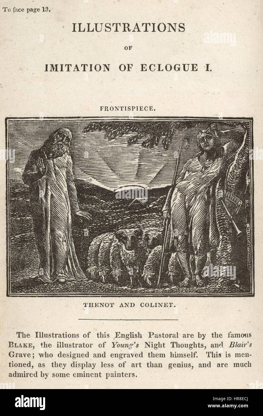 The Pastorals of Virgil, copy 1, object 5 Frontispiece bb504 2 5 com 300 - Stock Image