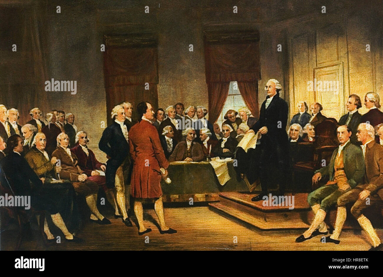 Washington Constitutional Convention 1787 - Stock Image