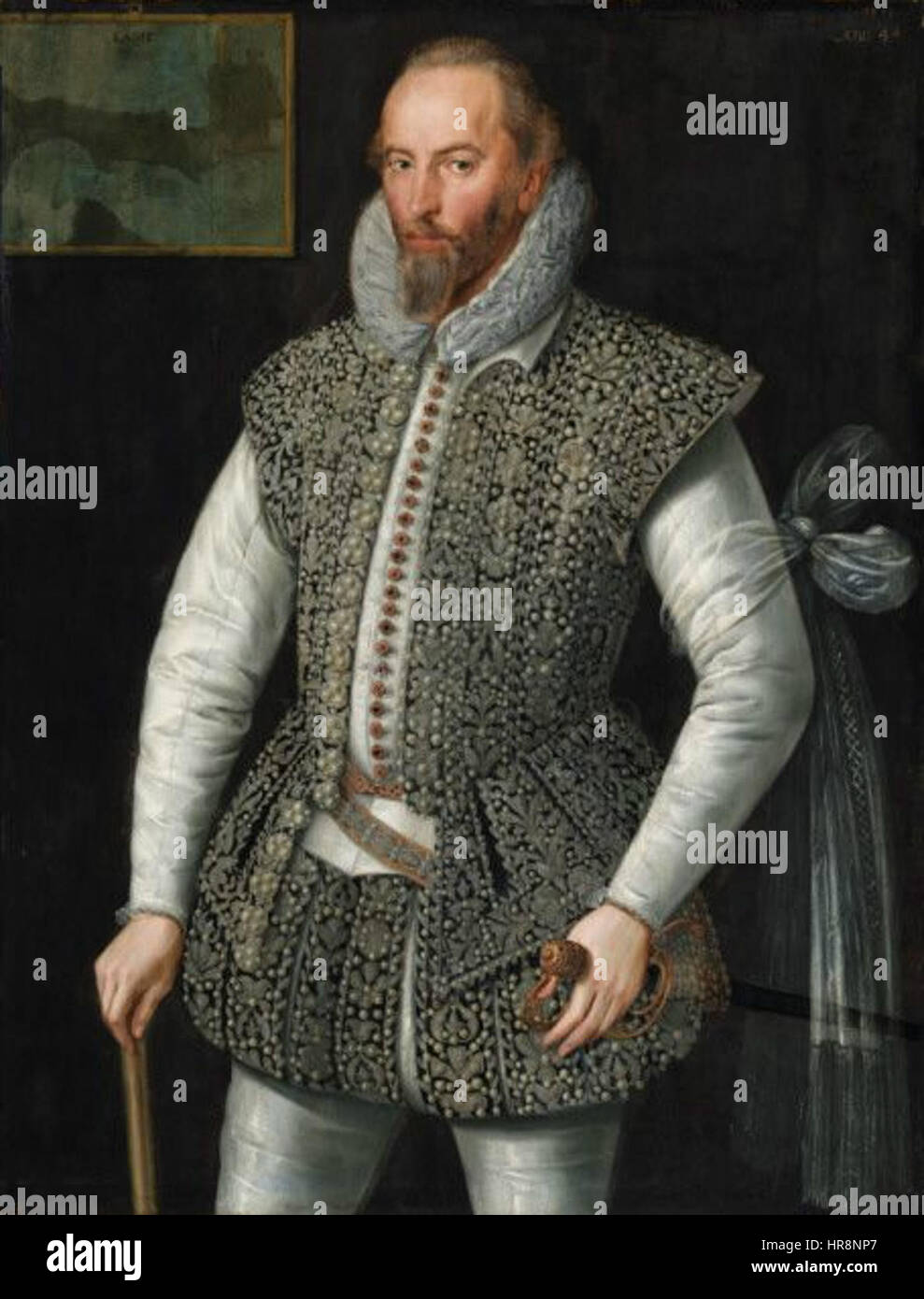 William Segar Sir Walter Raleigh - Stock Image