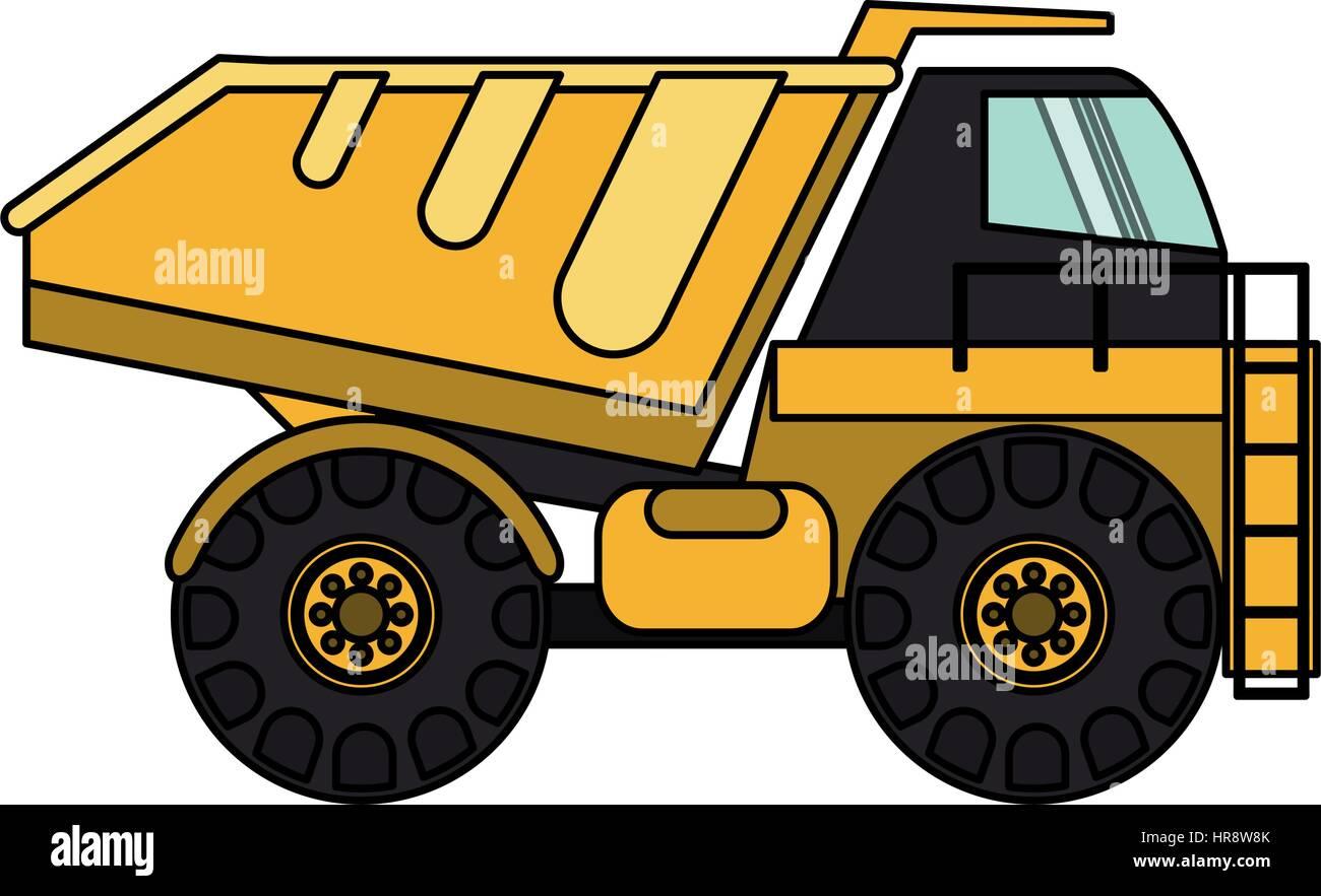 heavy construction machinery icon image  - Stock Vector