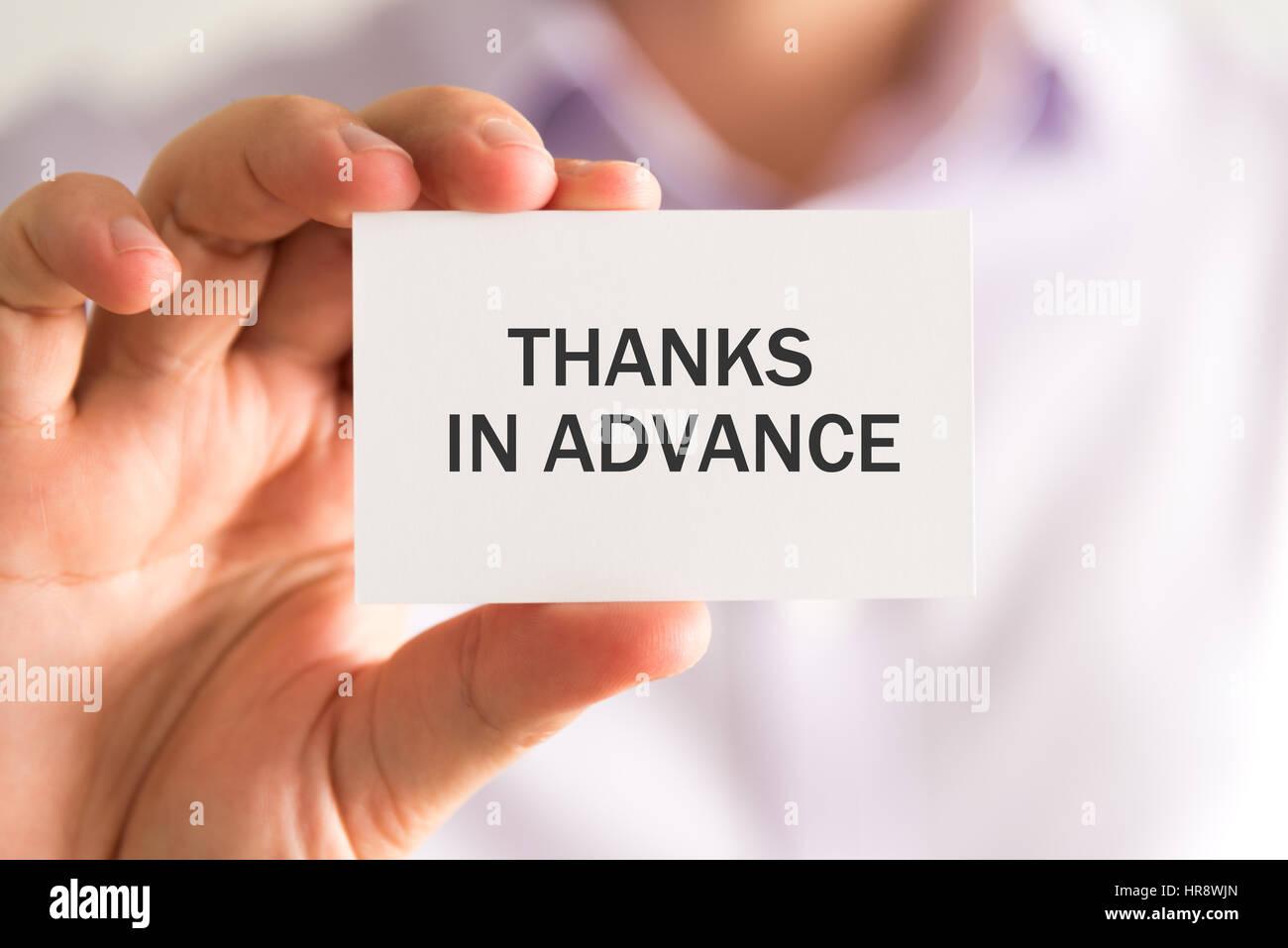 d7d2e2f2b0f Thanks In Advance Stock Photos & Thanks In Advance Stock Images - Alamy