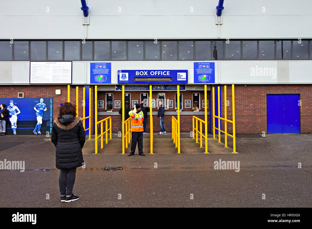 Box office at Goodison Park, home of Everton Football Club, Liverpool UK Stock Photo