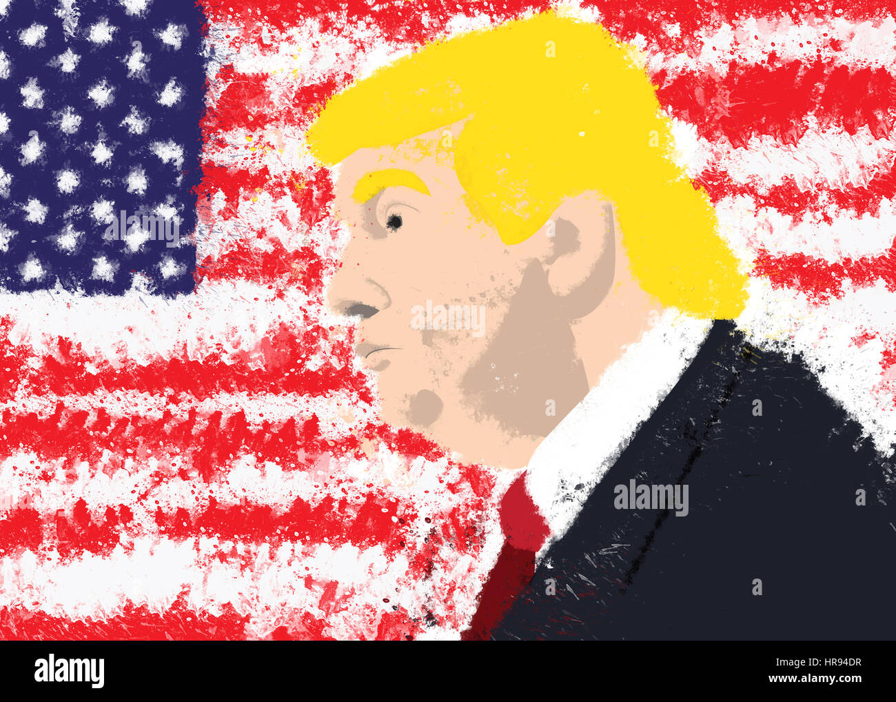 Donald Trump, president of USA - Stock Image