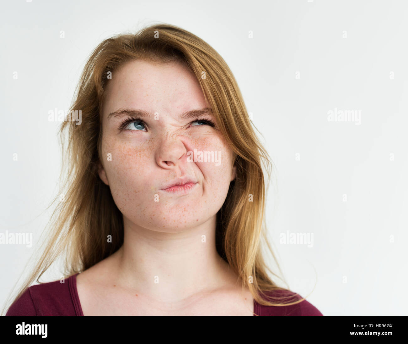 girl annoyed face expression portrait stock photo 134812410 alamy