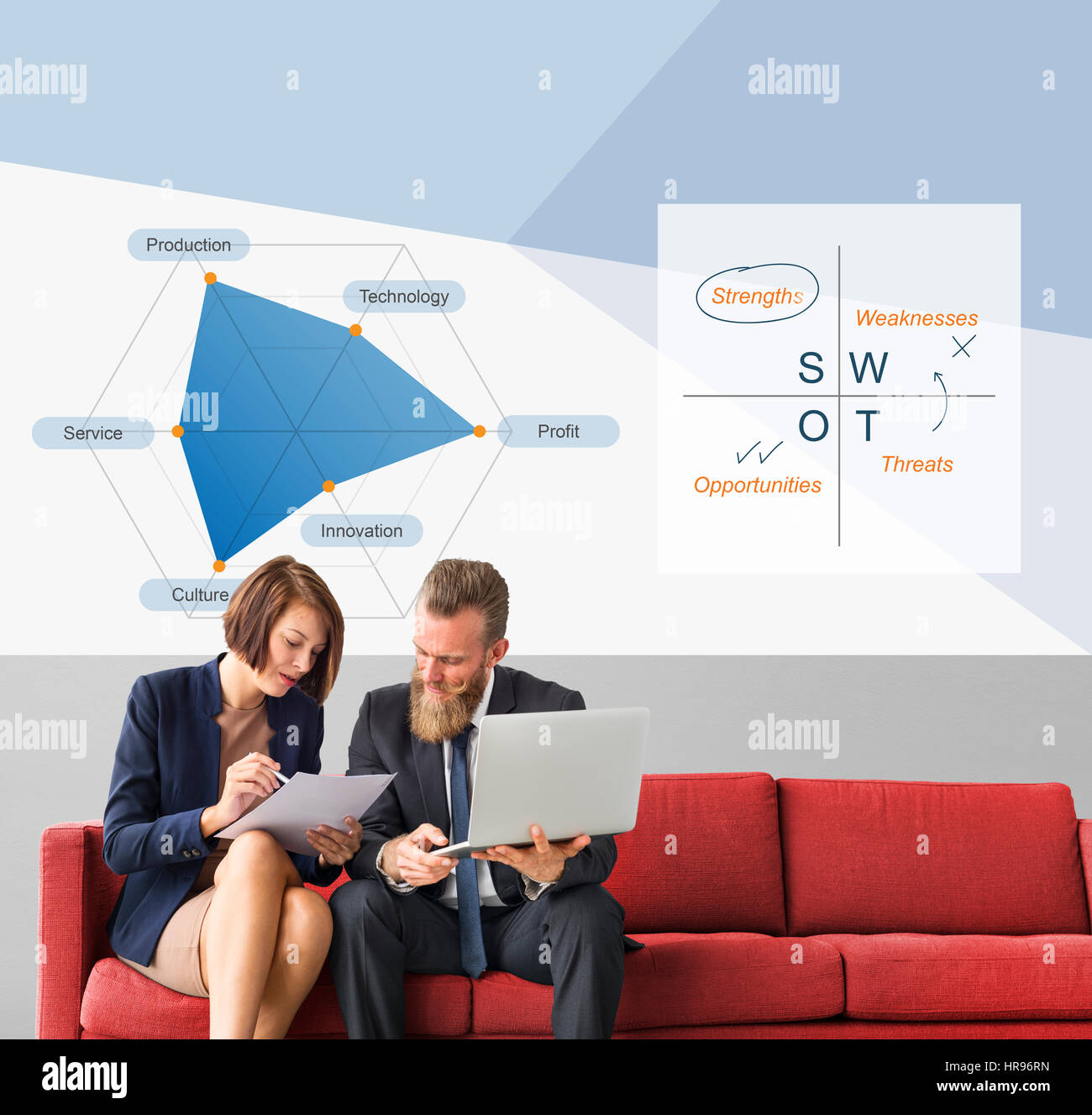 Analysis Innovation Opportunities Strengths Strategic - Stock Image