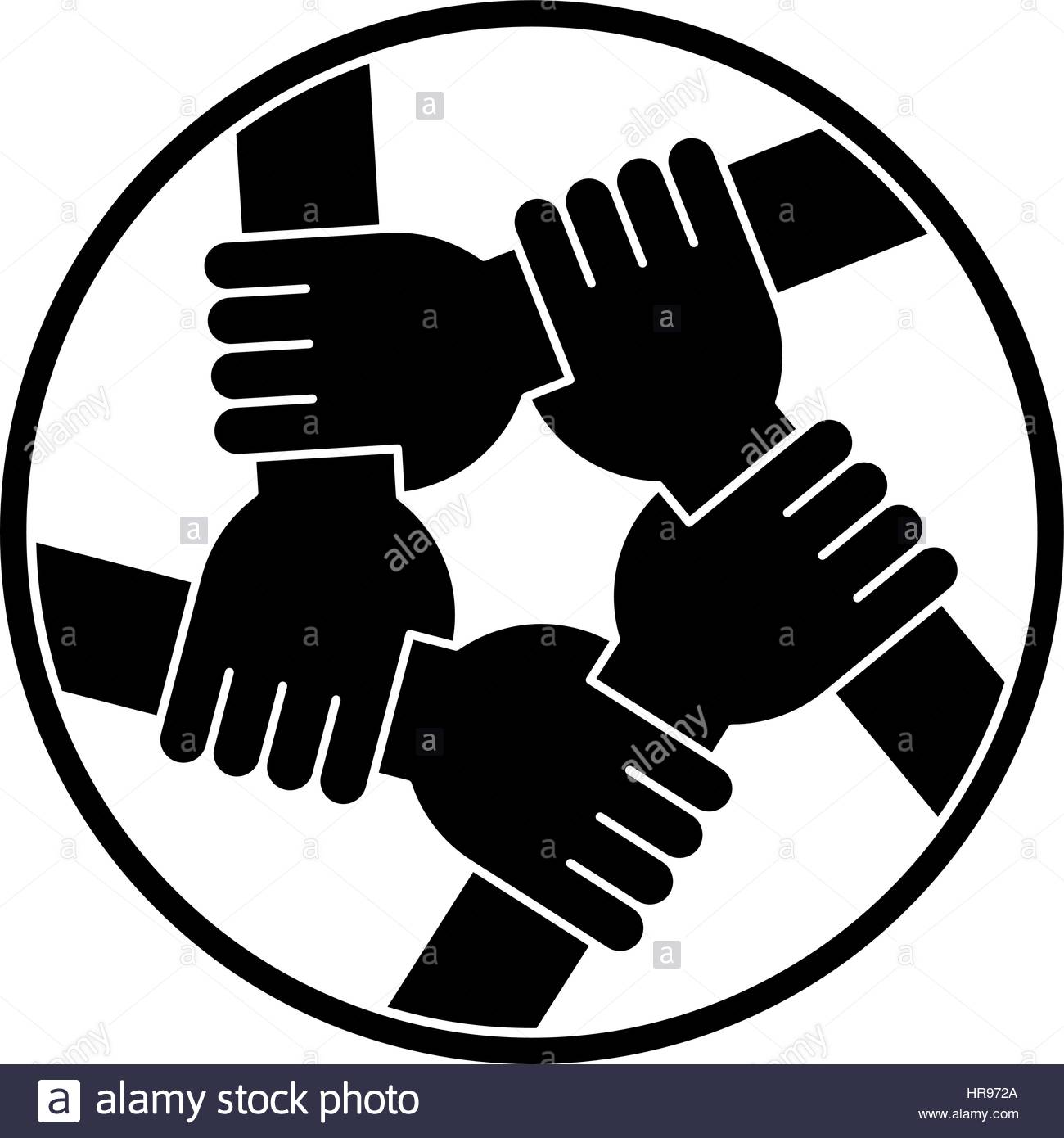 Vector Drawing Lines Unity : Vector illustration of five human hands silhouettes