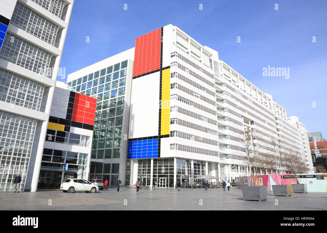 City Hall Of The Hague In The Abstract Colors Of Dutch