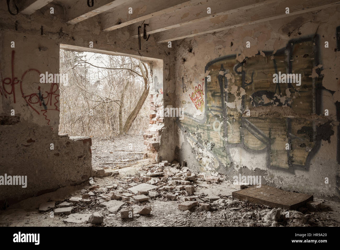 creepy house - Stock Image