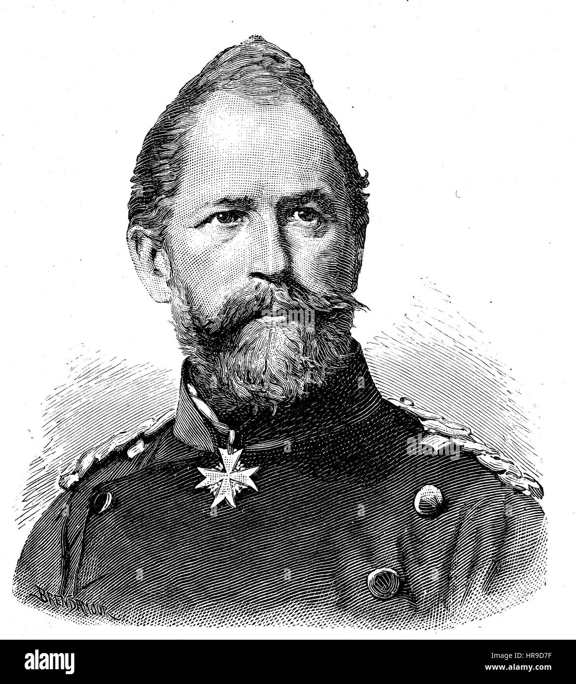 Wilhelm Ludwig Karl Kurt Friedrich von Tuempling, 1809 - 1884, Was a Prussian general of the cavalry, Situation - Stock Image