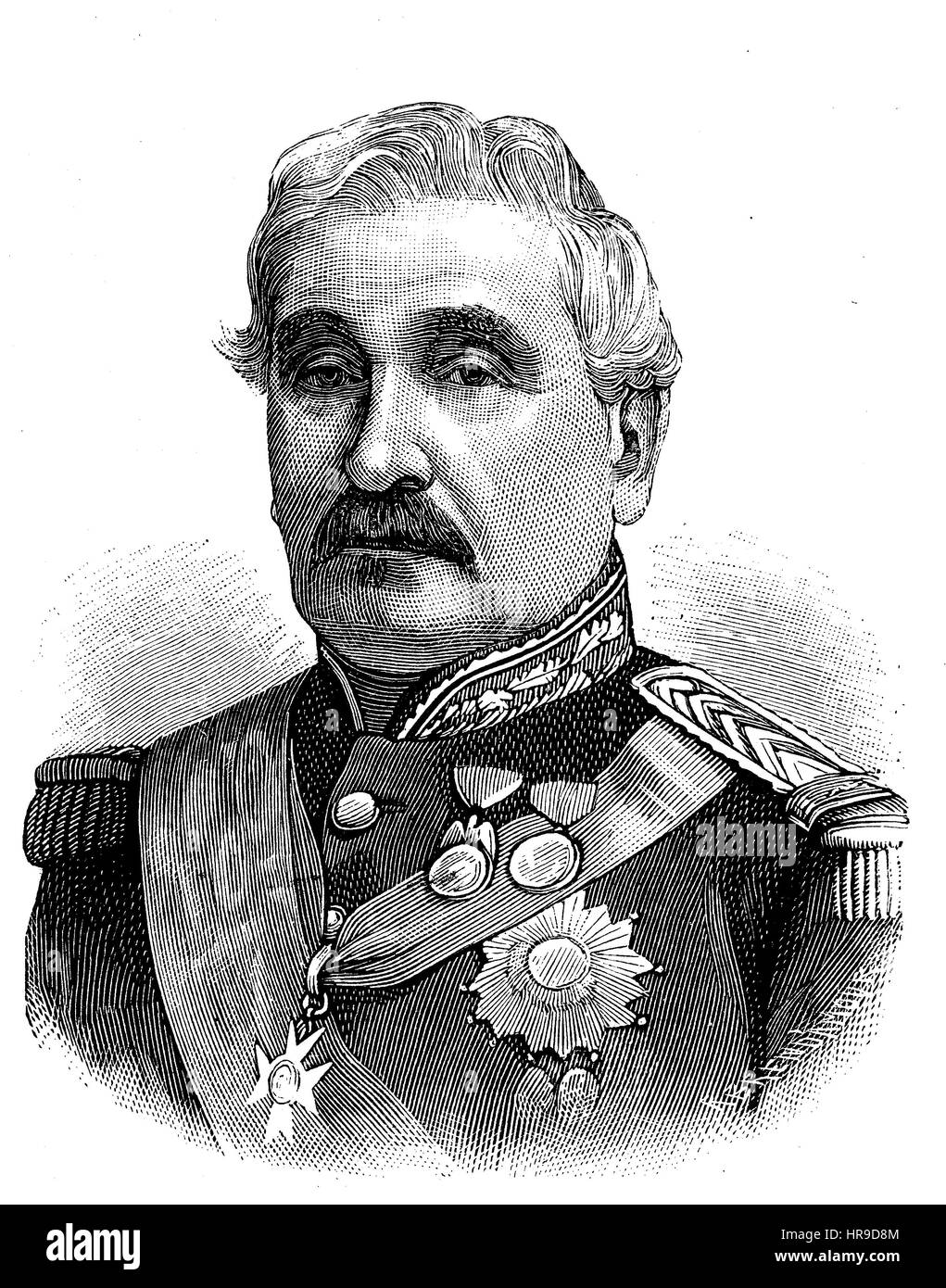 Charles Guillaume Marie Appollinaire Antoine Cousin Montauban, comte de Palikao, 1796 - 1878, was a French general - Stock Image
