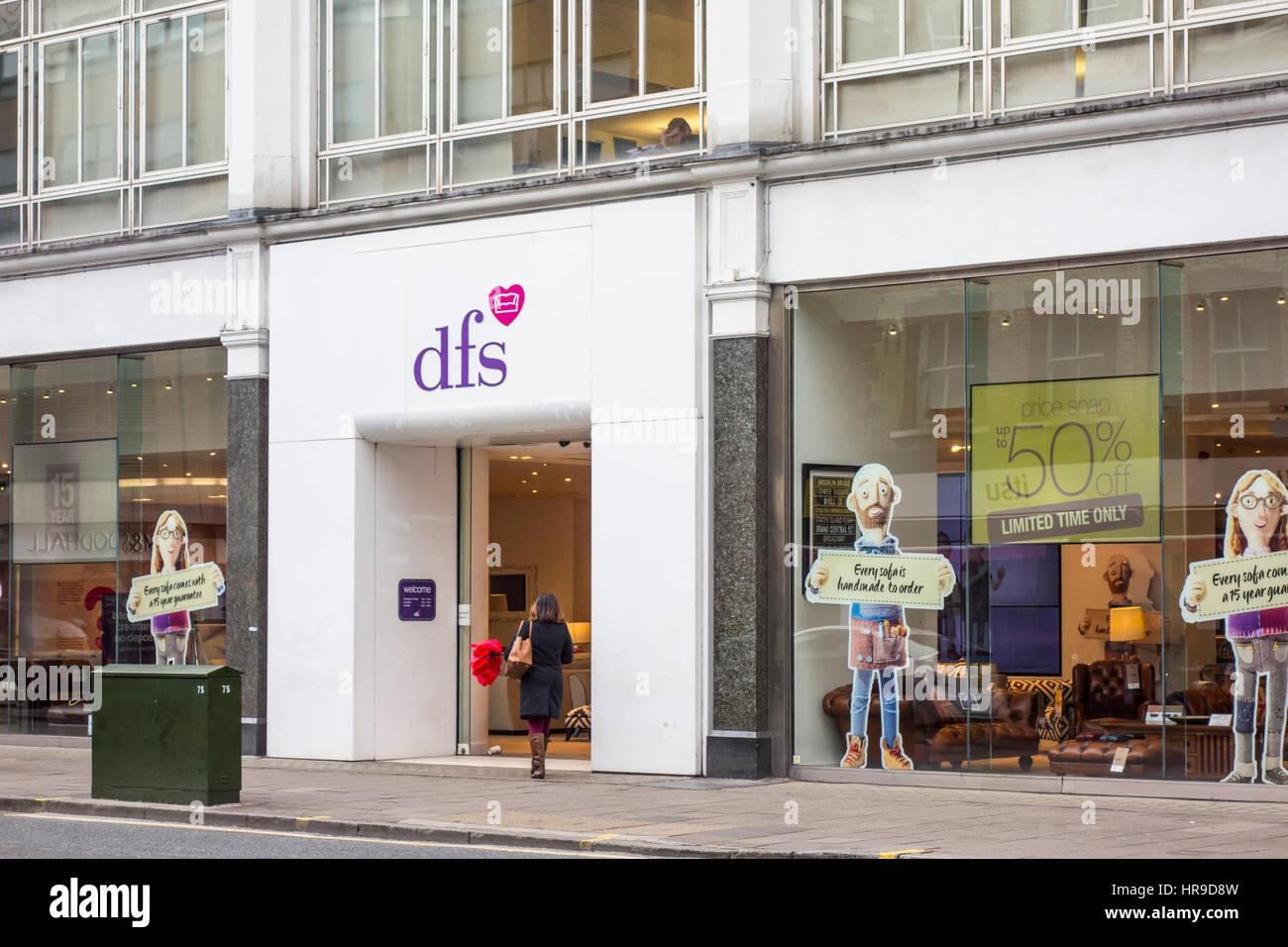 dfs shop store tottenham court road london uk stock photo