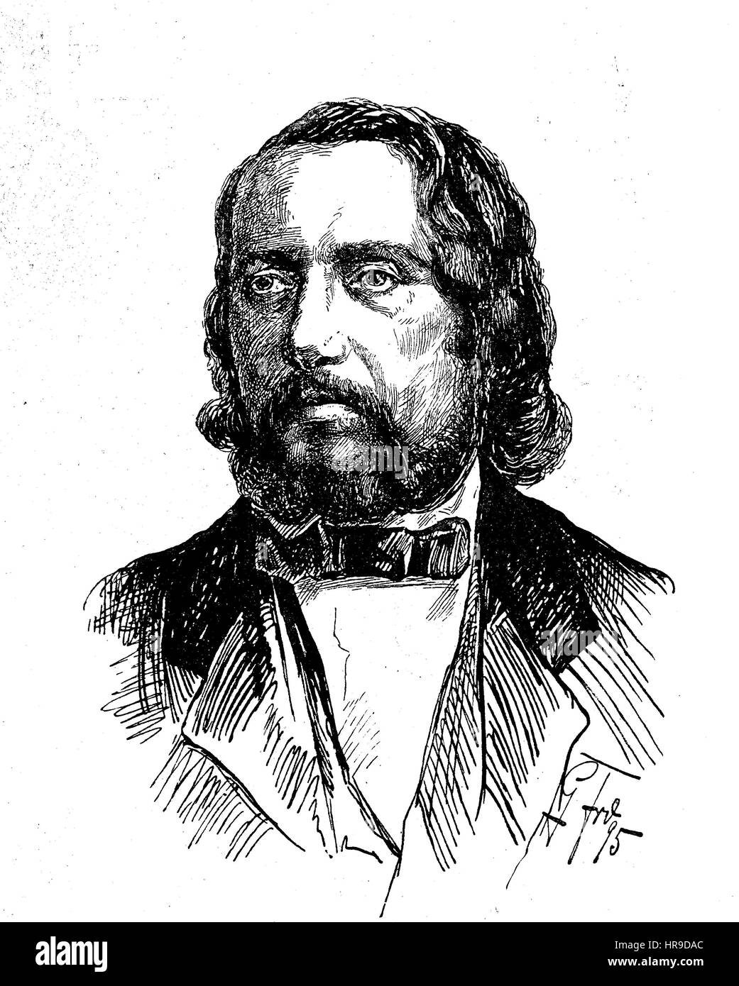 Karl Wilhelm, also Carl Wilhelm, 1815 - 1873, was a German choral director. He is best known as the composer of - Stock Image