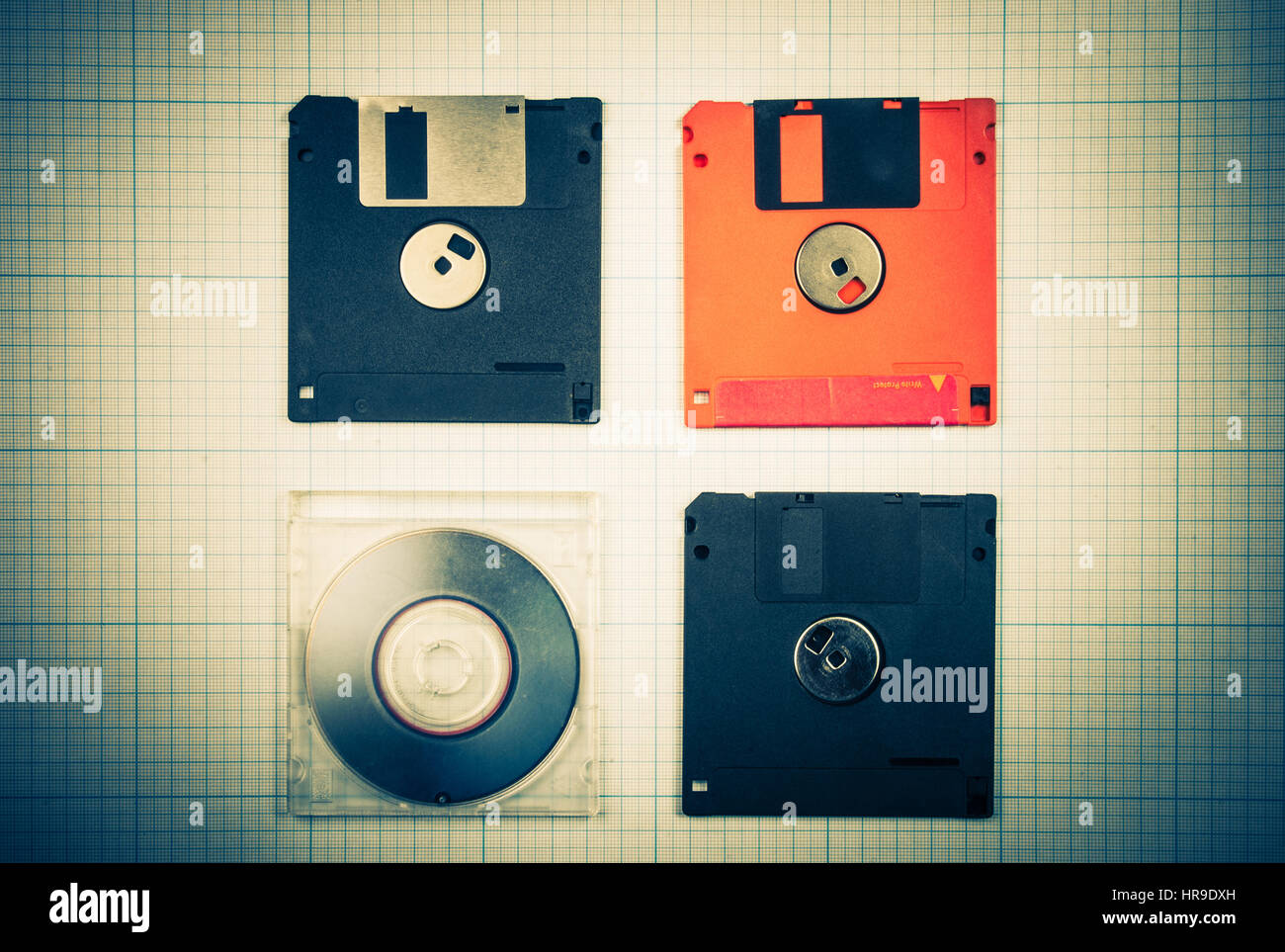 Digital scale stock photos digital scale stock images page 37 vintage background computer floppy disks and mini cd on the blueprint paper toned malvernweather Choice Image