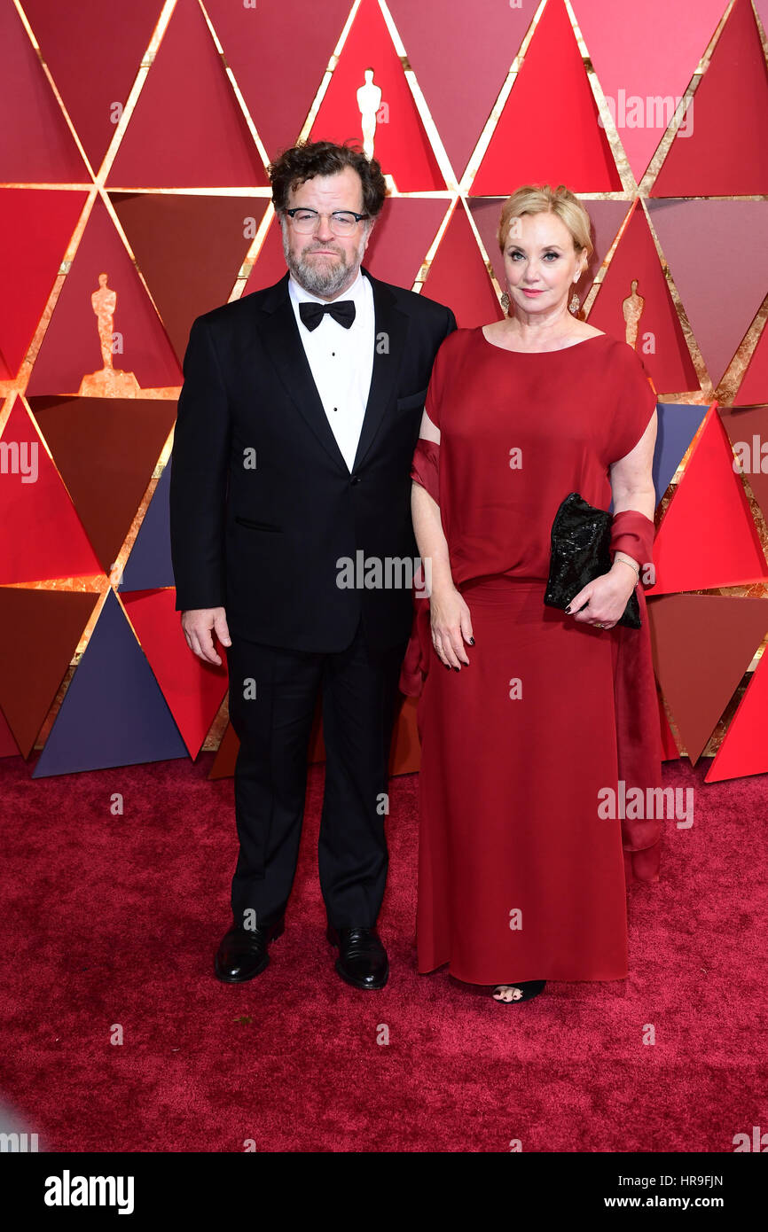 Director Kenneth Lonergan and J.Smith-Cameron arriving at the 89th Academy Awards held at the Dolby Theatre in Hollywood, - Stock Image