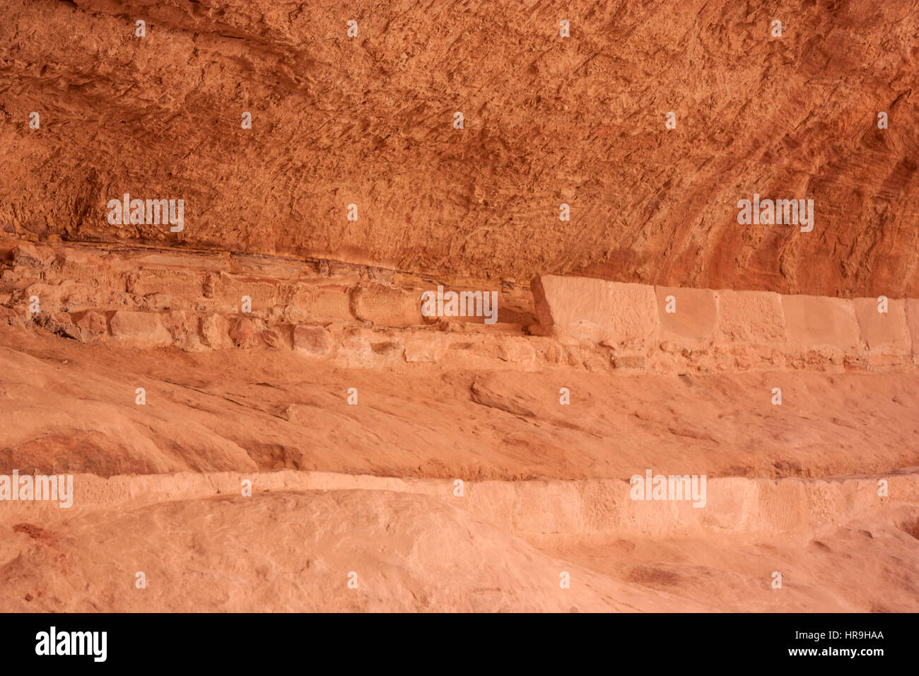 Remains of water supply system in Petra, Jordan - Stock Image