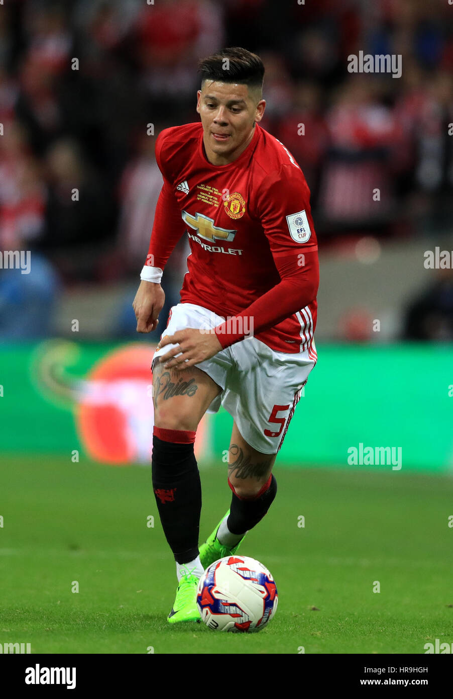 Manchester United S Marcos Rojo Stock Alamy