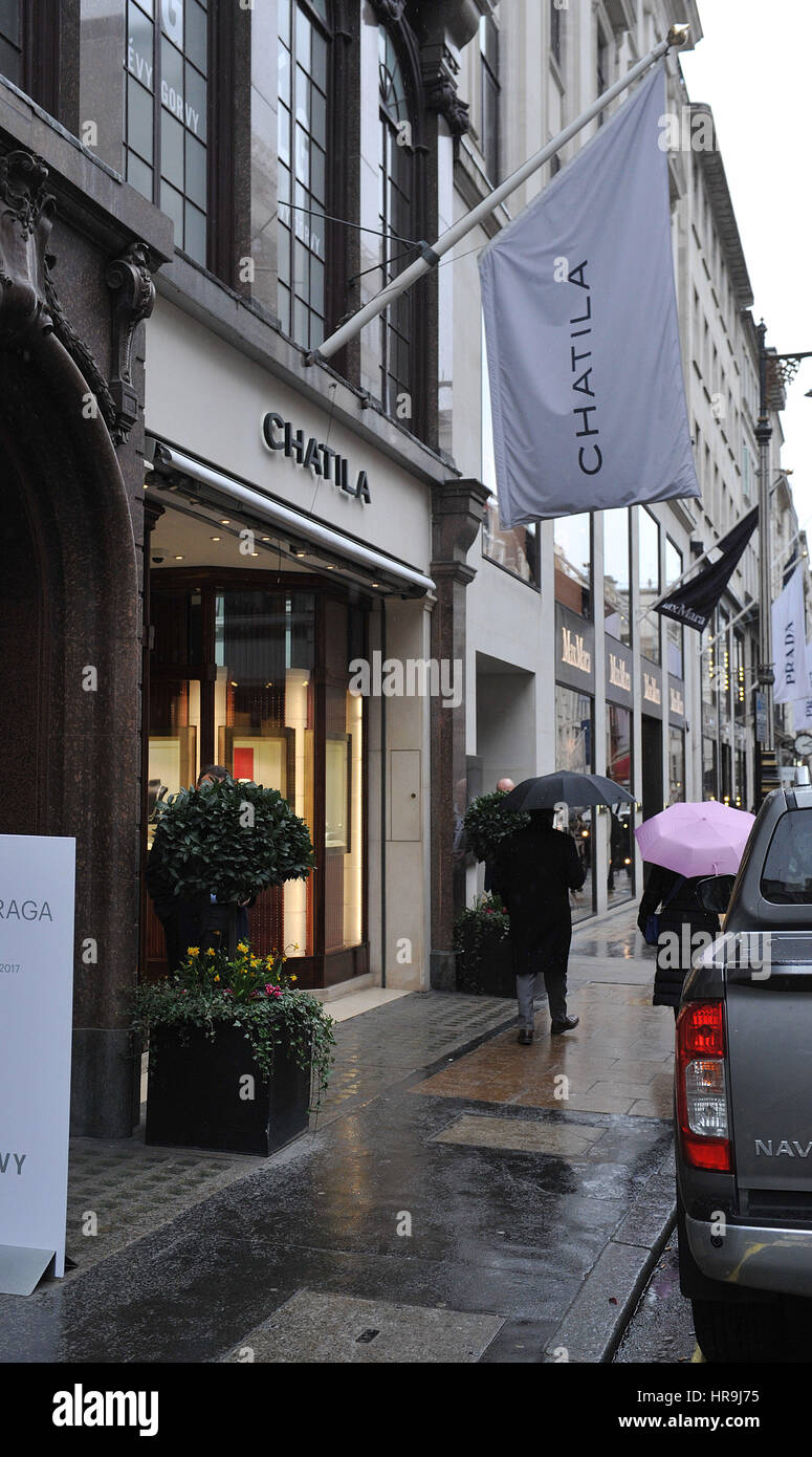 Beautiful General View Of Chatila Jewellers In Old Bond Street, Central London As Hatton  Garden Raiders, Terry Perkins, 68, And Daniel Jones, 59, Who Have Been ...