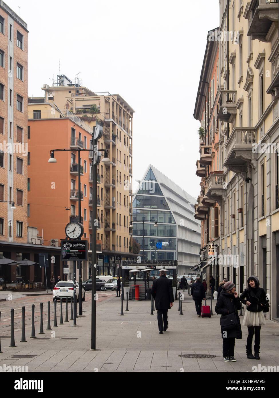 Porta Nuova district during Milano Fashion Week - Stock Image