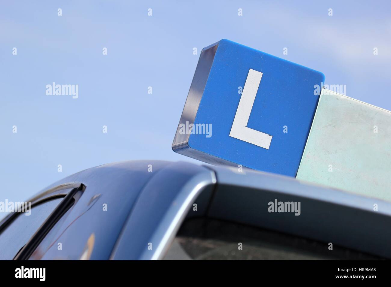 Dutch driving school car sign - Stock Image