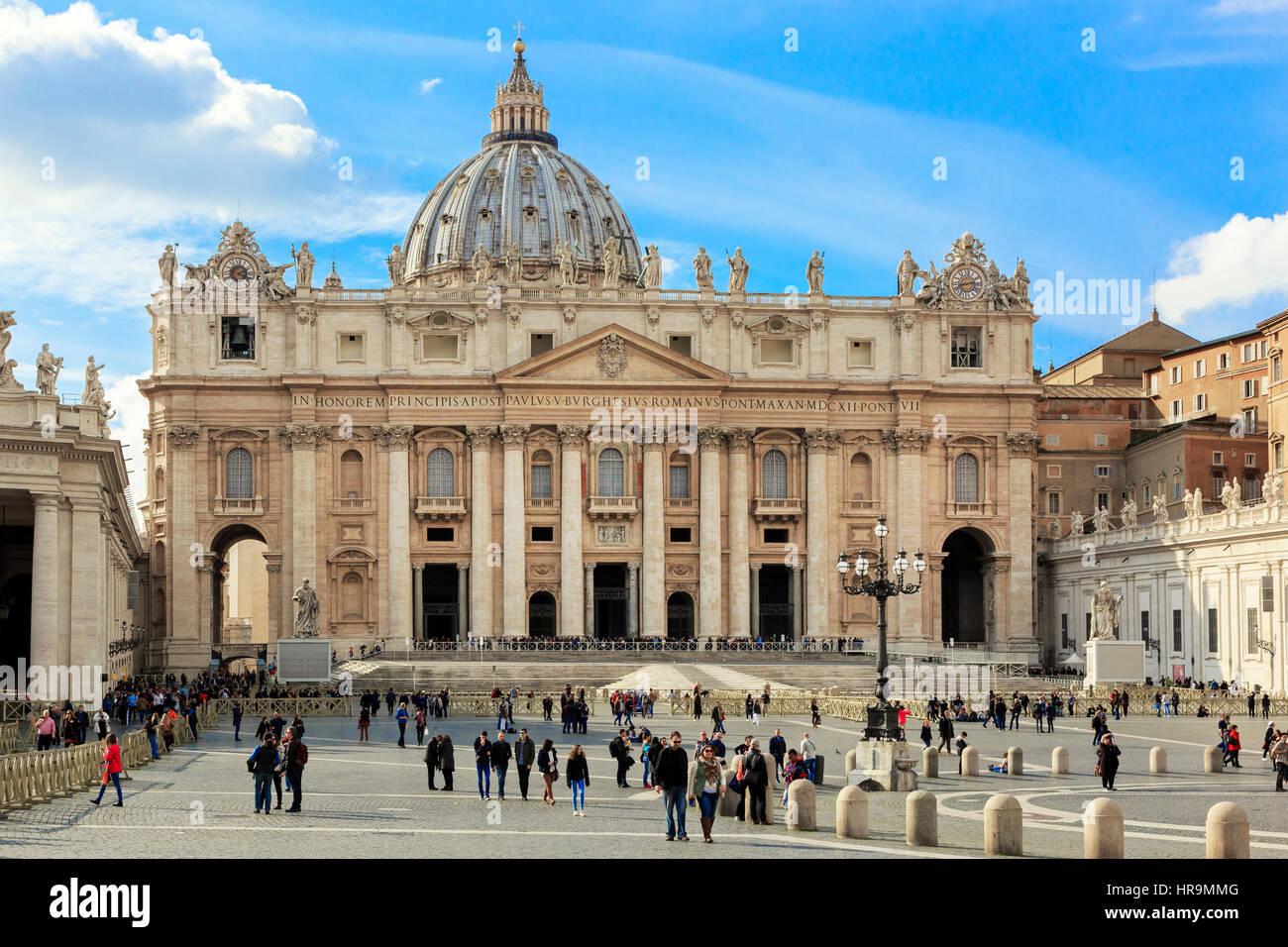 St. Peter's Basilica, Vatican City, Rome, Italy Stock Photo