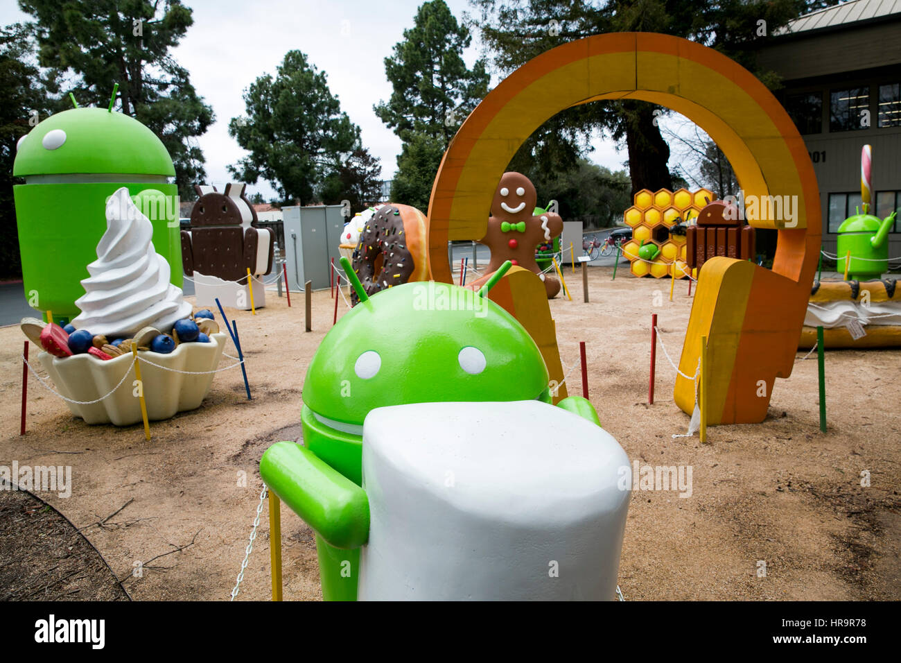 Superb A Garden Full Of Google Android Operating System Statues In Mountain View,  California, On February 18, 2017.