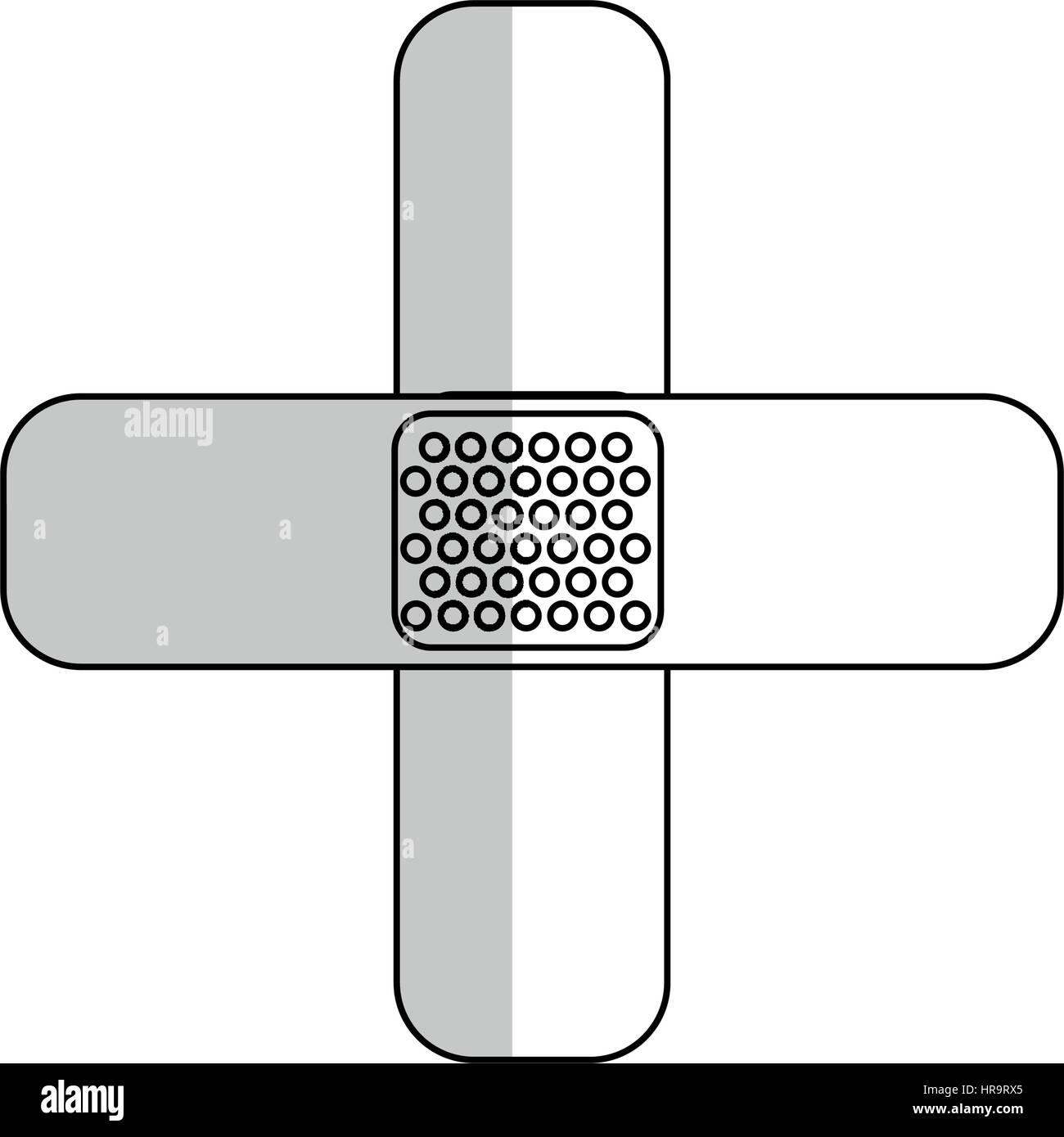 ban aid icon - Stock Image