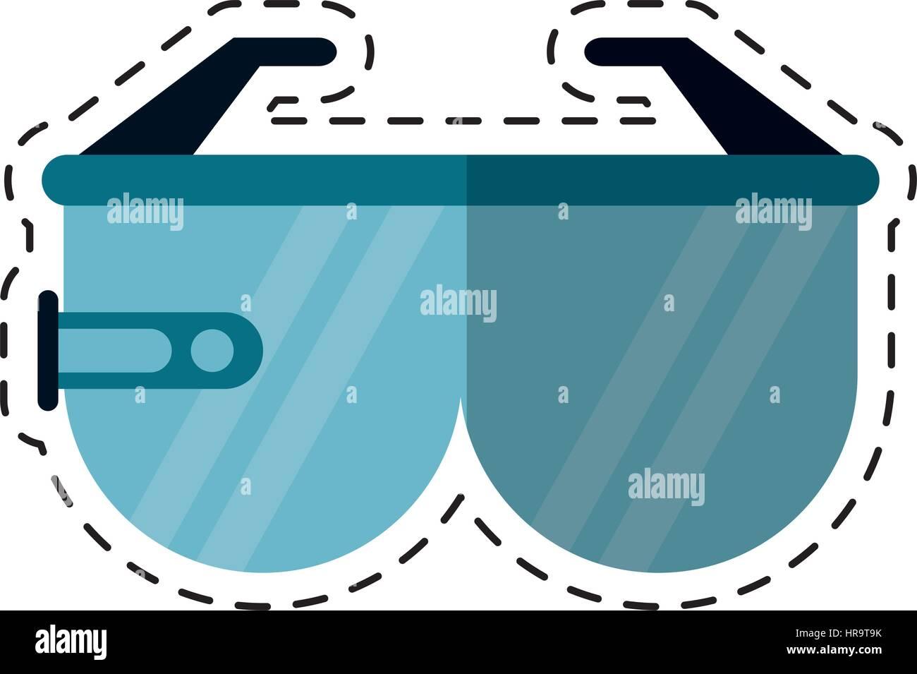 b08ee06df1 cartoon virtual reality glasses smart Stock Vector Art ...