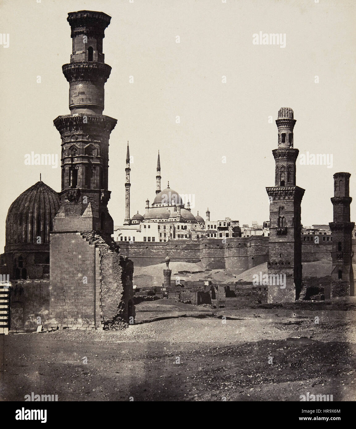 Ruins of the Oldest - and Also the Newest Mosque, Cairo - Stock Image