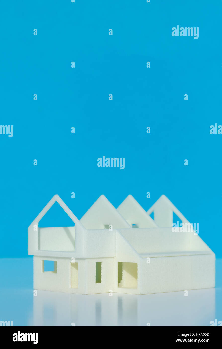 3D Printed Model House - Stock Image