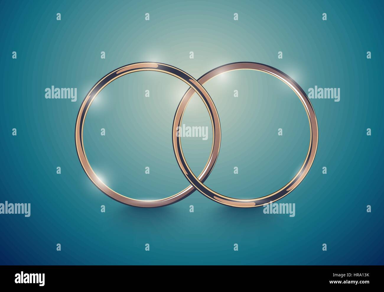 Abstract Luxury Golden Ring Vector Light Vintage Effect