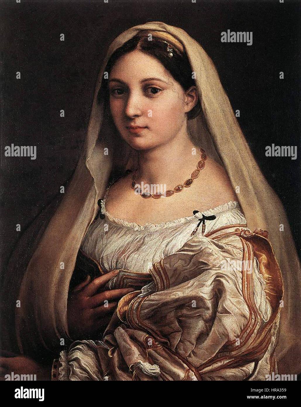 Raffaello Sanzio - Woman with a Veil (La Donna Velata) - WGA18824 Stock Photo