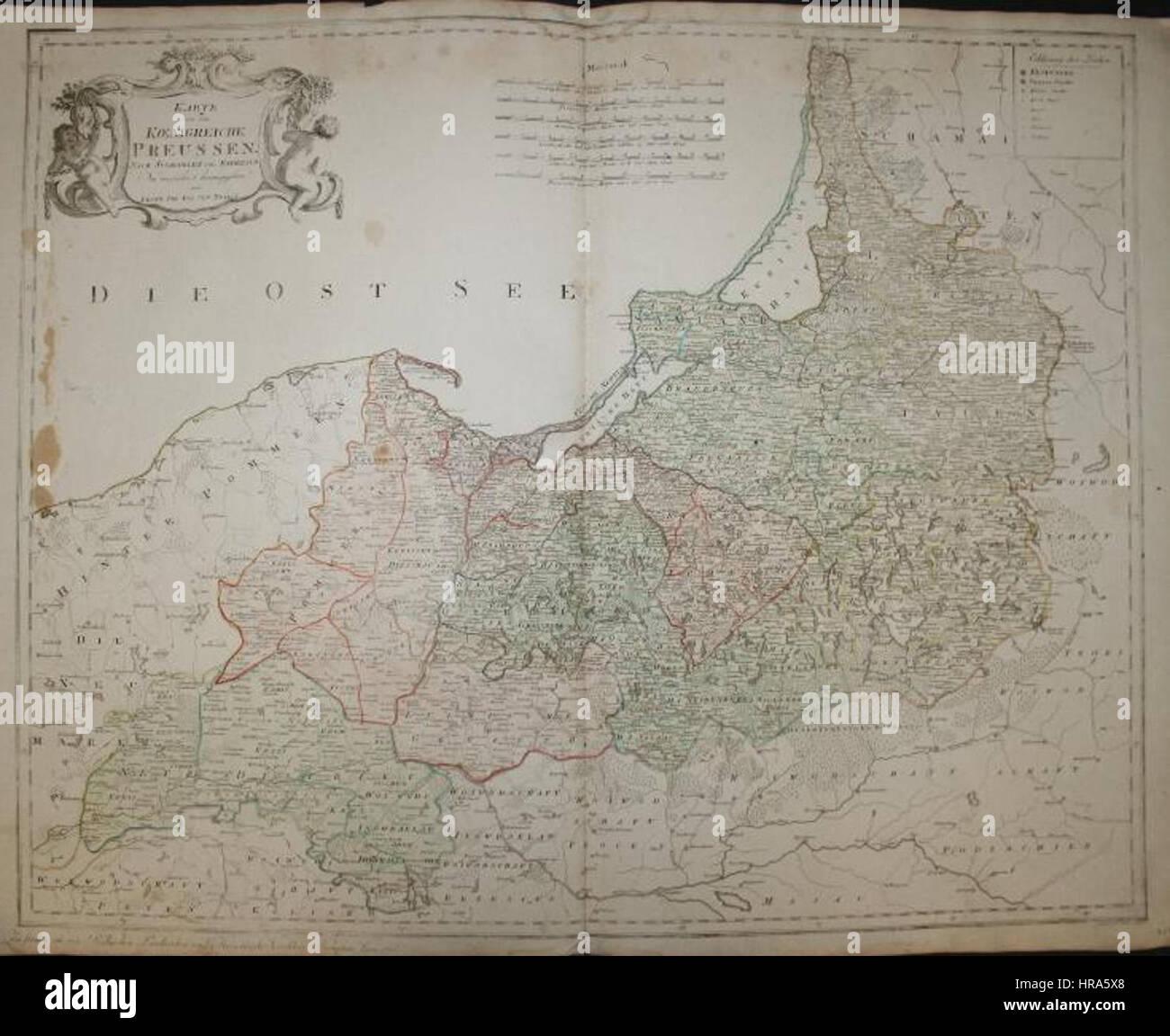 Reilly Karte von dem Koenigreiche Preussen Stock Photo