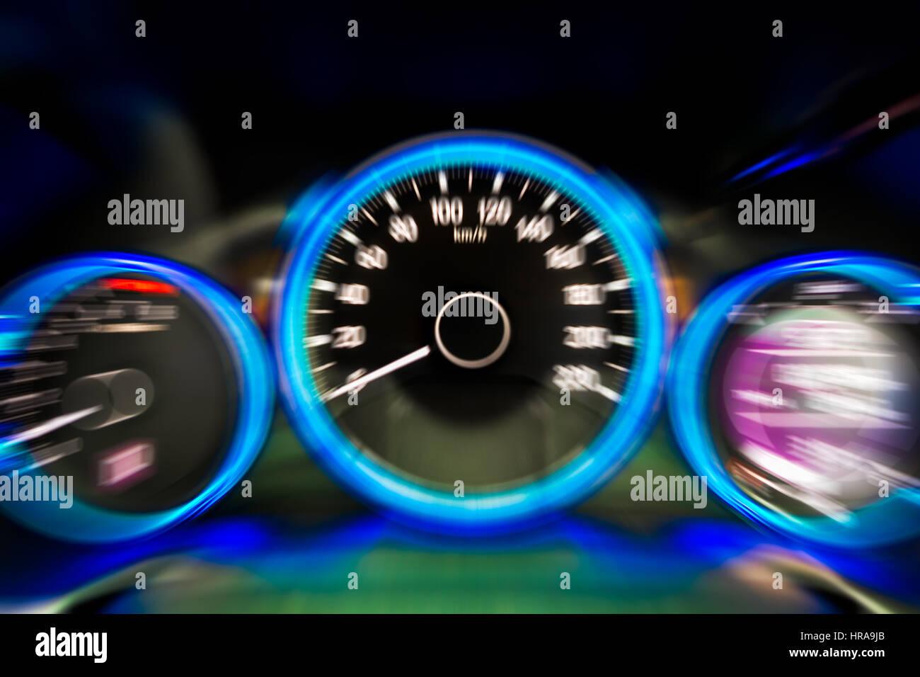 Car dashboard modern automobile control illuminated panel speed ...