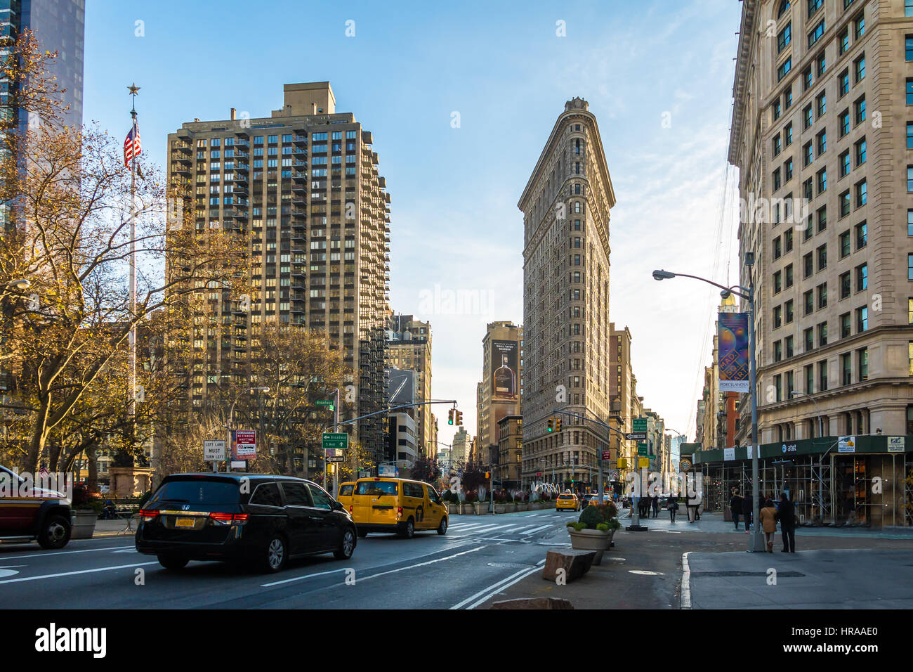Flatiron Building - New York City, USA - Stock Image