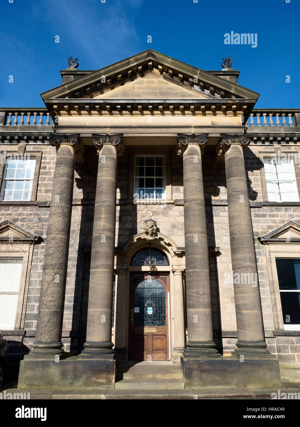 Conyngham Hall Large Late C18 House now a Business Centre at Knaresborough North Yorkshire England - Stock Image