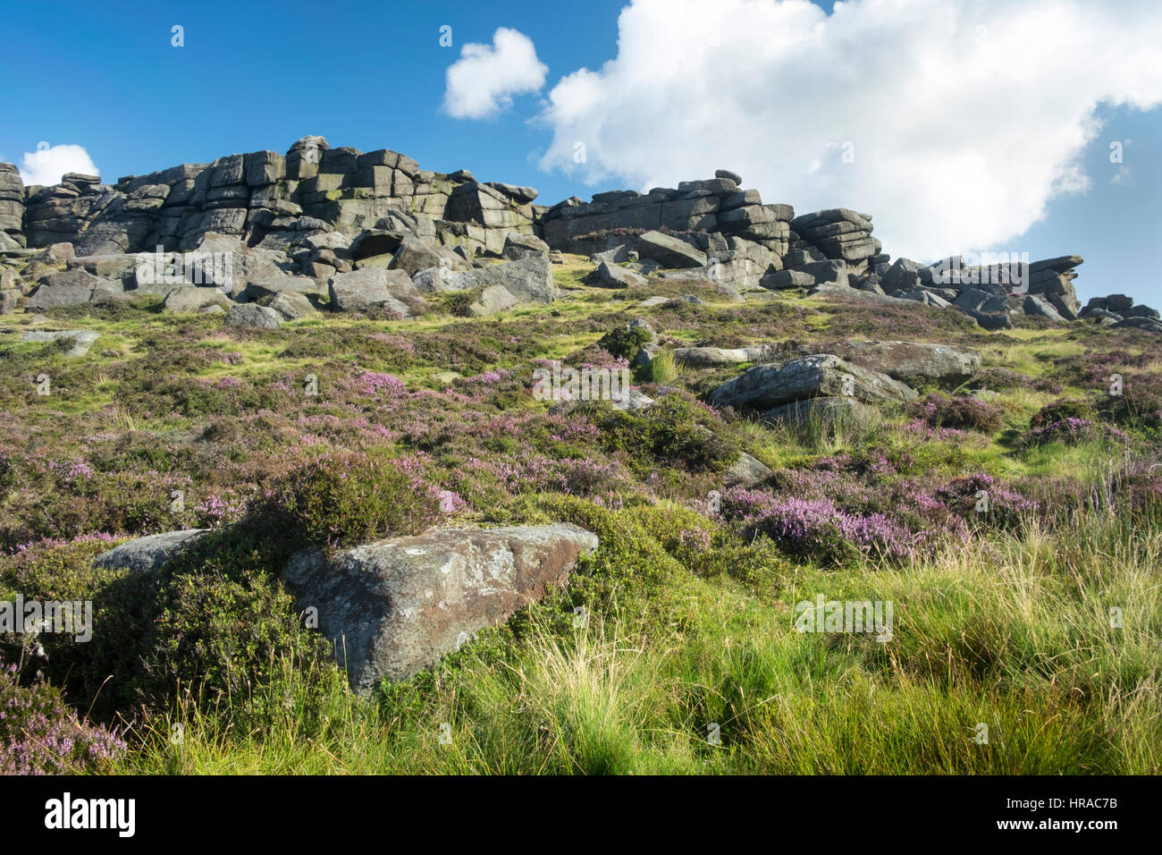 Stanage Edge in th UK Peak District National Park - Stock Image