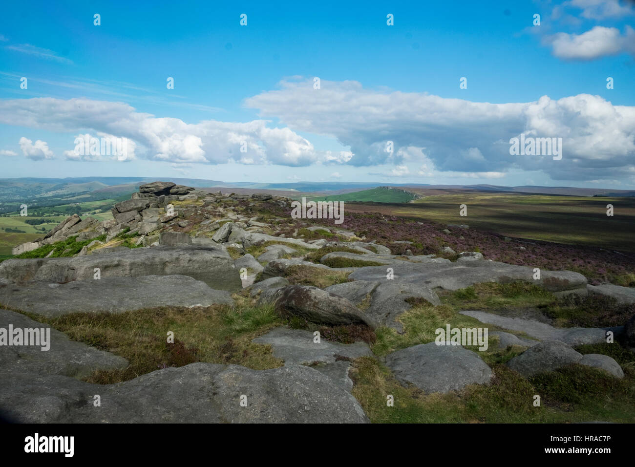 Stanage Edge, Peak District National Park - Stock Image