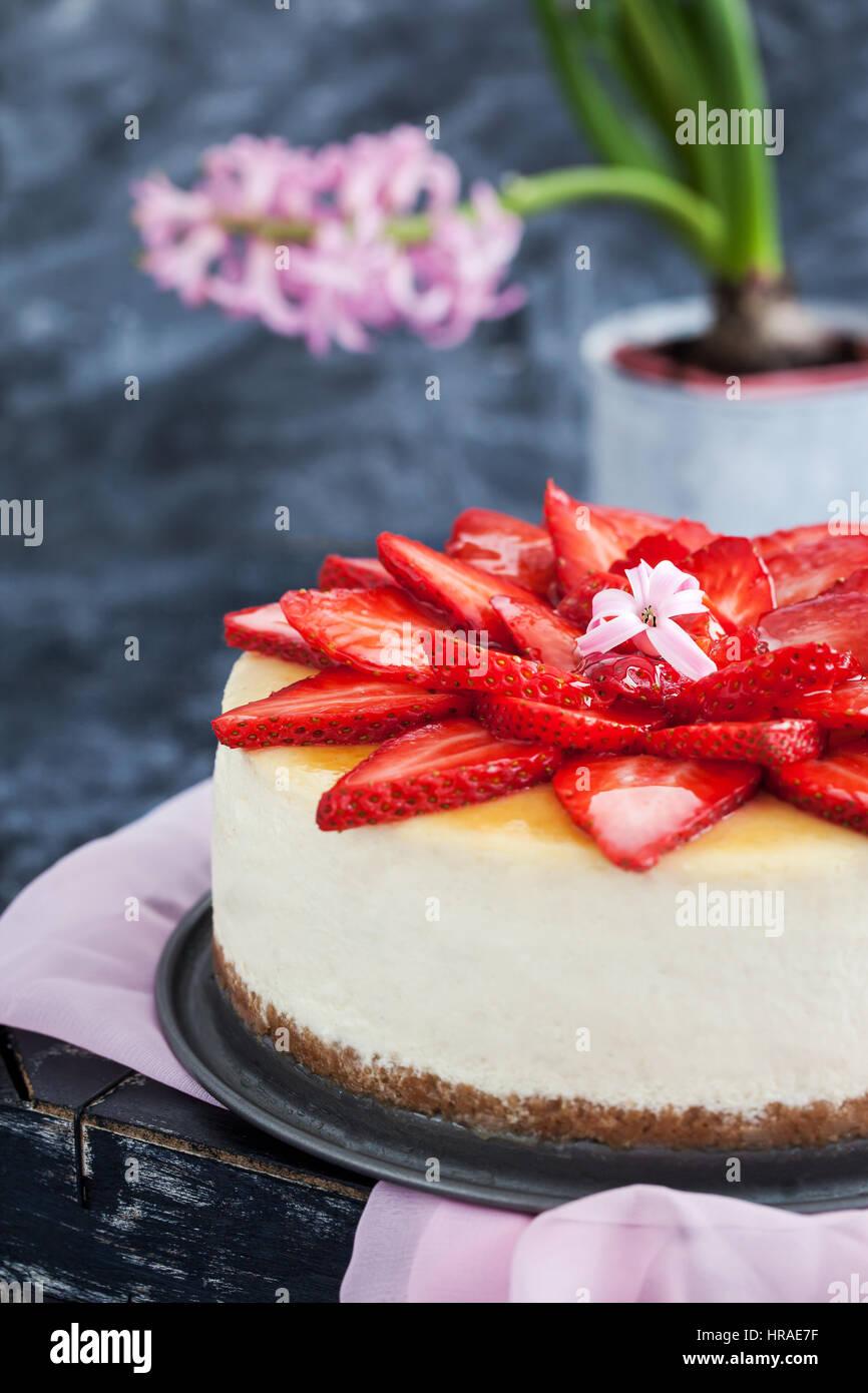 Decorated Cake Strawberries Stock Photos Decorated Cake