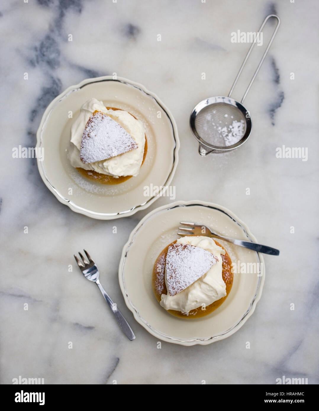 The Swedish Shrove Tuesday pastry semla - Stock Image