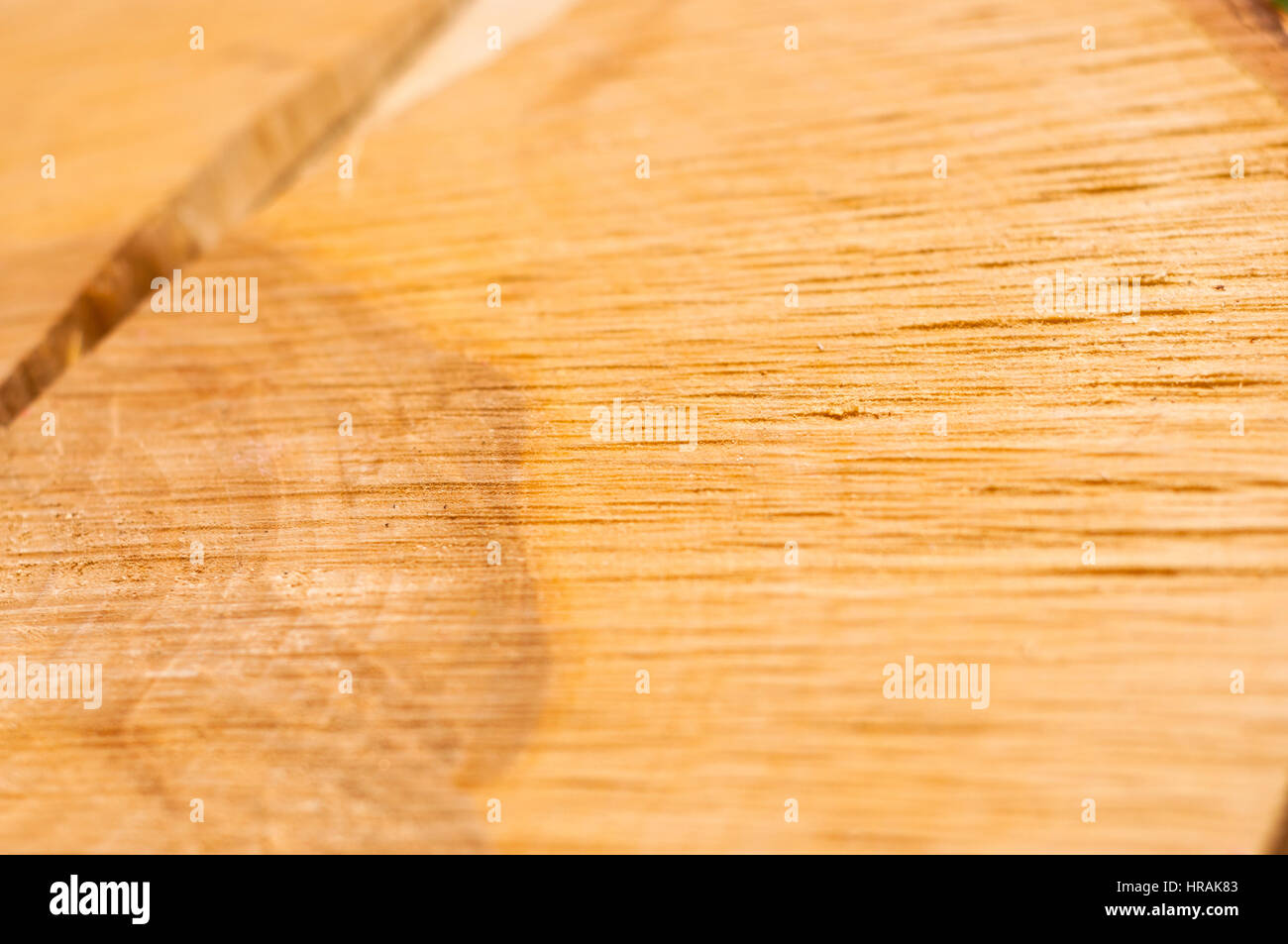 Crack on a tree stump, wooden texture - Stock Image