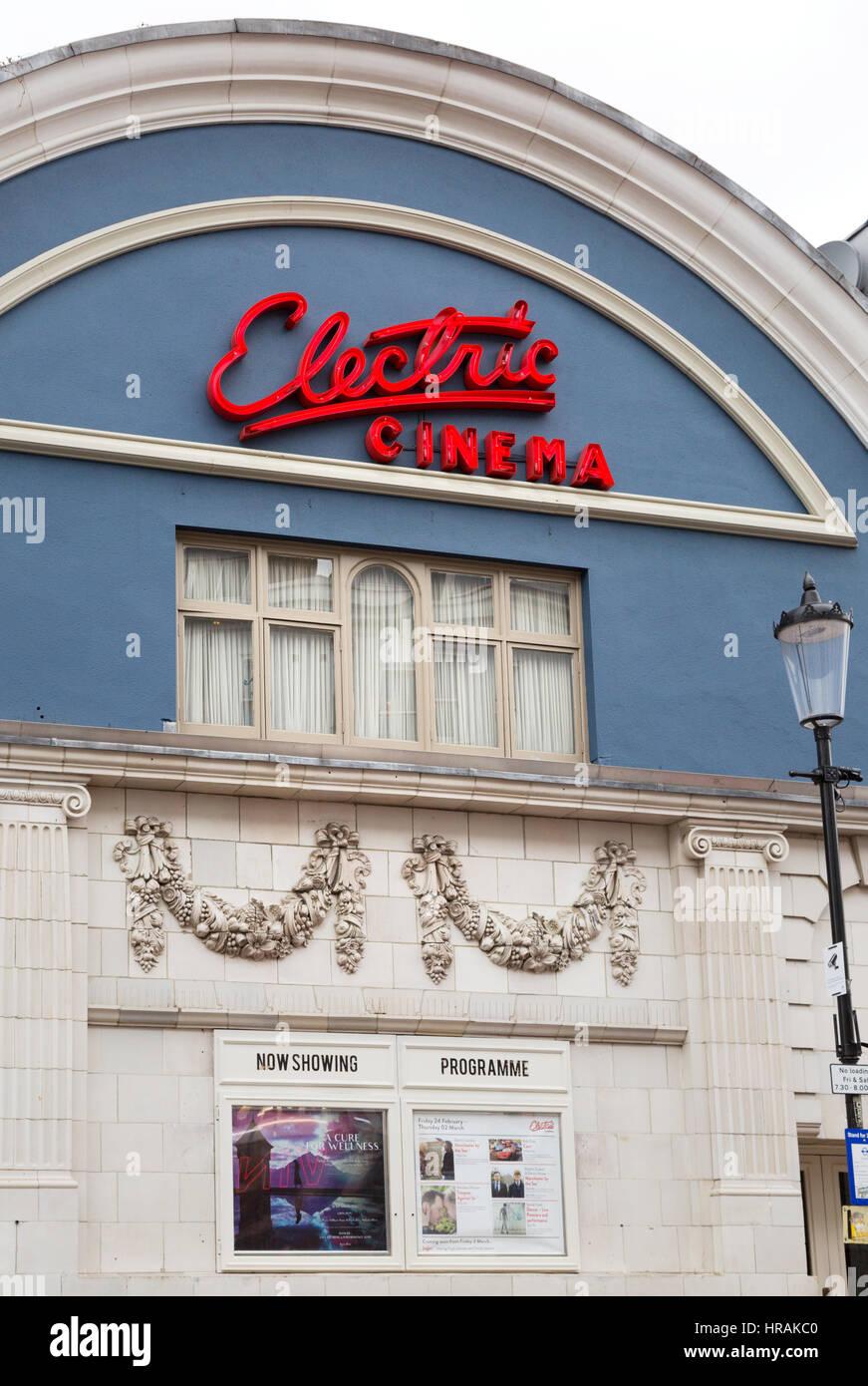 The exterior of the Electric Cinema, Portobello Road, Notting Hill, London UK - Stock Image