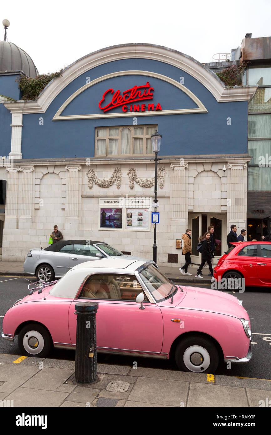 The Electric Cinema, exterior, Portobello Road, Notting Hill, London England UK - Stock Image