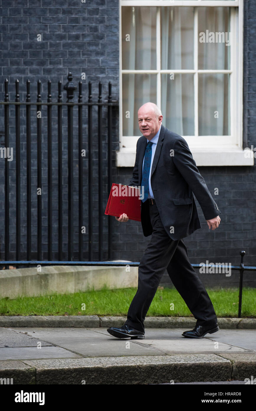London, UK. 28th February 2017. Secretary of State for Work and Pensions Damian Green arrives at 10 Downing Street - Stock Image
